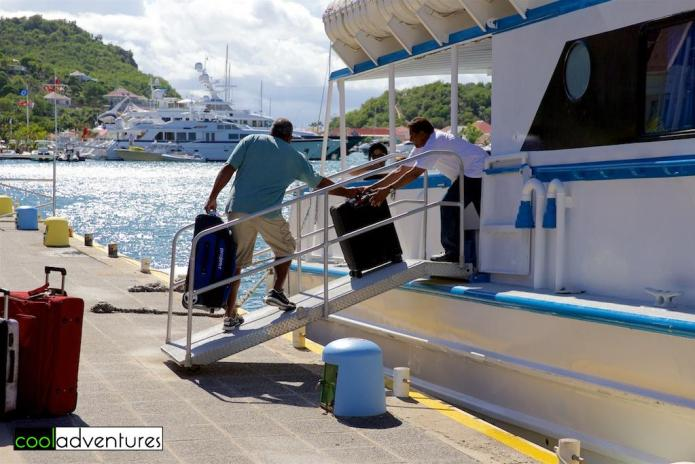 Luggage is fine on the ferry between St Maareten and Saint Barths