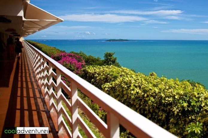 Promenade level walkway, El Conquistador Resort, Puerto Rico