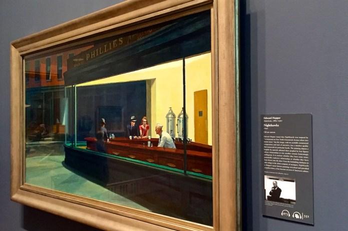 Nighthawks, Edward Hopper, Art Institute of Chicago, Chicago, Illinois