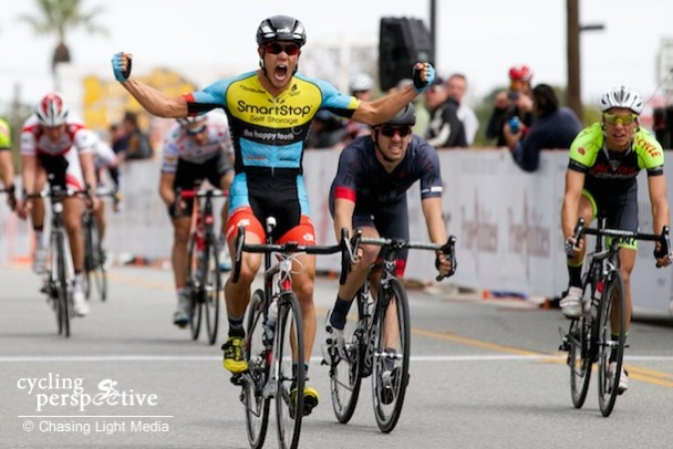 Travis McCabe wins Redlands Bicycle Classic 2014 Stage 3