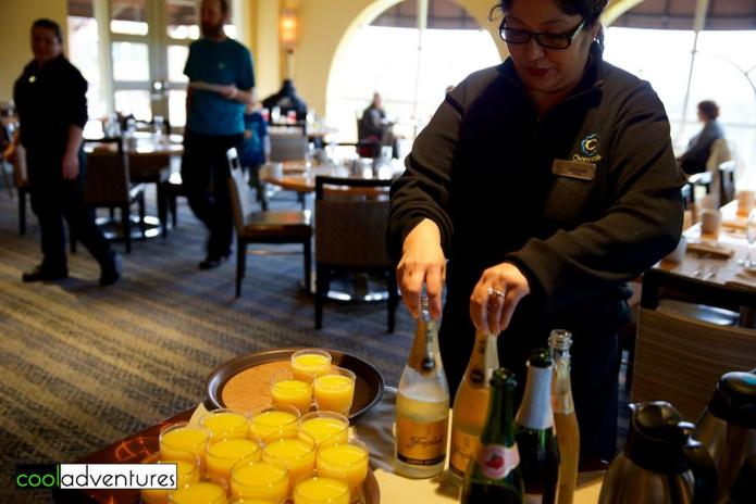 Bubbly & mimosa at Chaminade in Santa Cruz