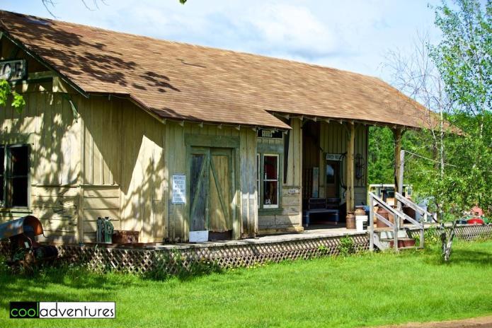 The Depot from the movie Iron Will, Pioneer Village, Brainerd, Minnesota