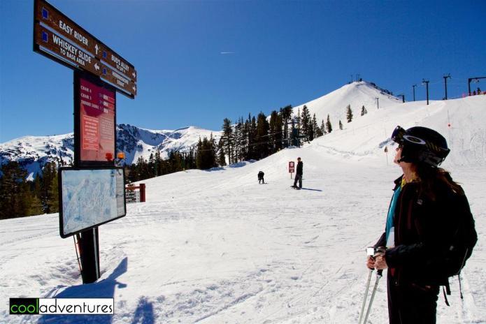 Kim Hull skiing the blues at Kirkwood Mountain Ski Resort