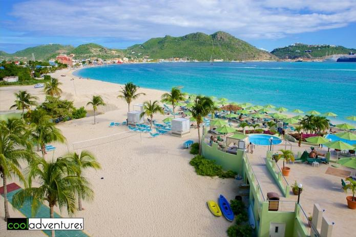 Great Bay Beach and the Sonesta Resort, Philipsburg, Sint Maarten