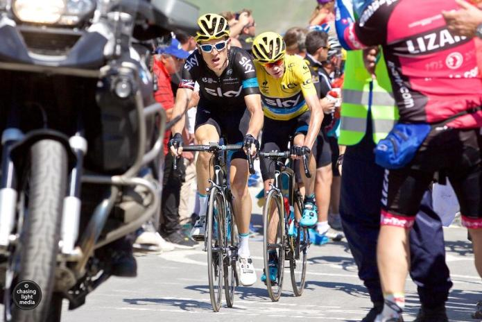 Geraint Thomas, Chris Froome, Team Sky, Tour de France 2015 Stage 11 Col du Tourmalet
