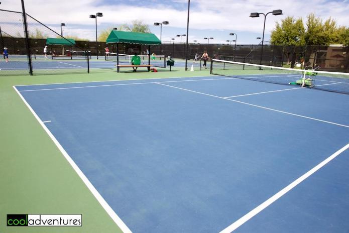 Tennis courts at JW Marriott Phoenix Desert Ridge Resort & Spa, Phoenix, Arizona