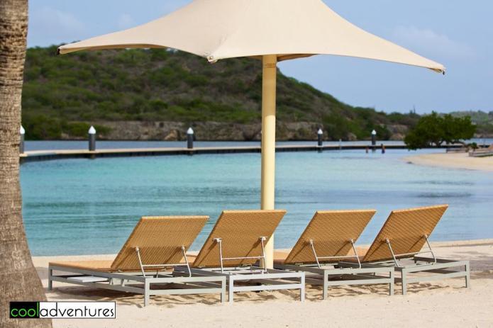 White sand beach at Santa Barbara Beach Resort Curacao