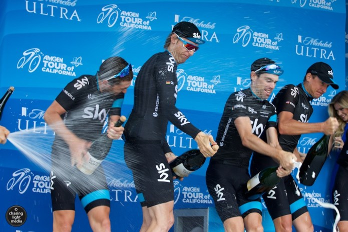 Team Sky, Amgen Tour of California 2015 Stage 8 podium