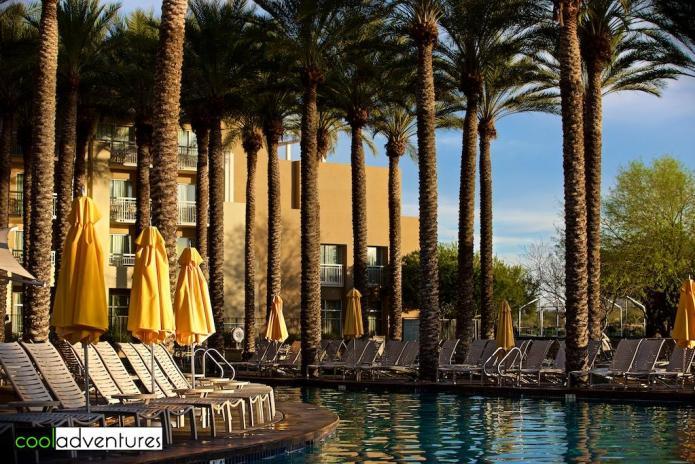 Relaxing by the pools at JW Marriott Desert Ridge, Phoenix, Arizona