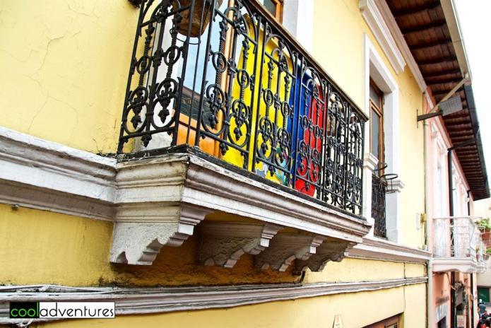 Colorful streets of Quito, Ecuador