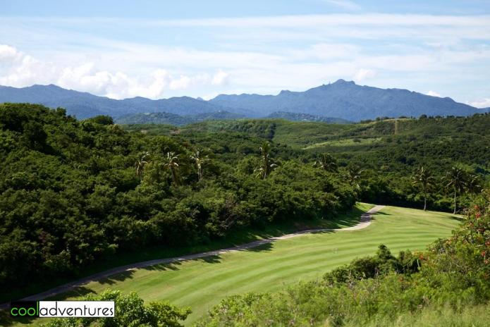 View of El Yunque Rain Forest from El Conquistador, A Waldorf Astoria Resort, Fajardo, Puerto Rico