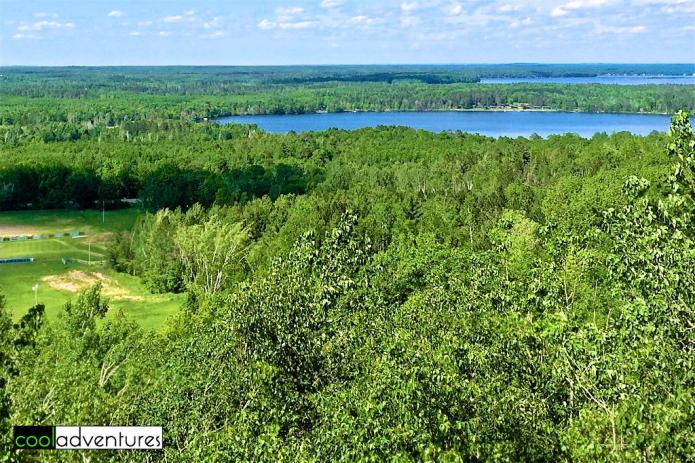 View of Agate Lake and Gull Lake from Brainerd Zip Line Tour tower