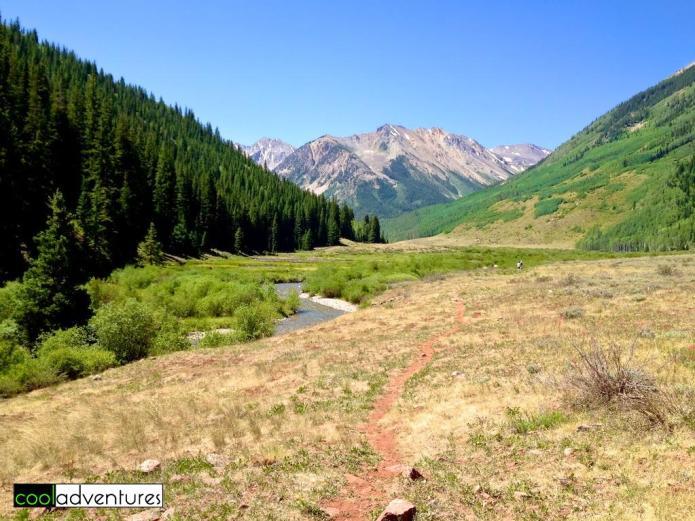 Hiking River Run Trail near Aspen, Colorado