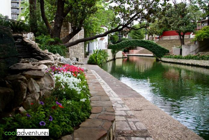River Walk near Arneson River Theatre, San Antonio, Texas
