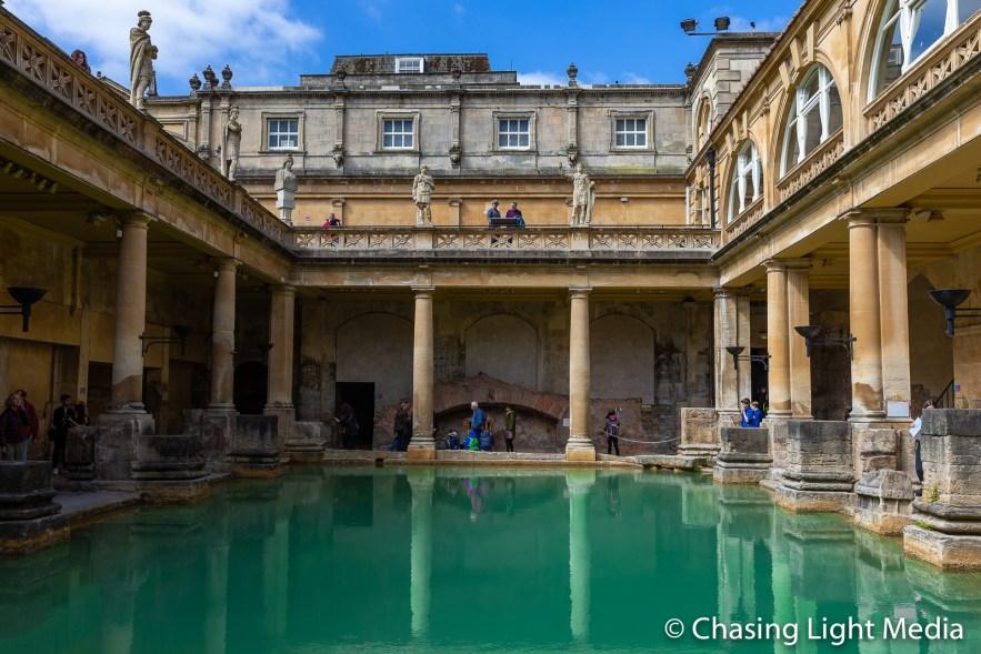 """Spacious pool known as the """"Great Bath"""", Roman Baths, Bath"""