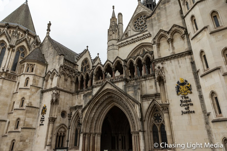 The Royal Courts of Justice building, Westminster, England