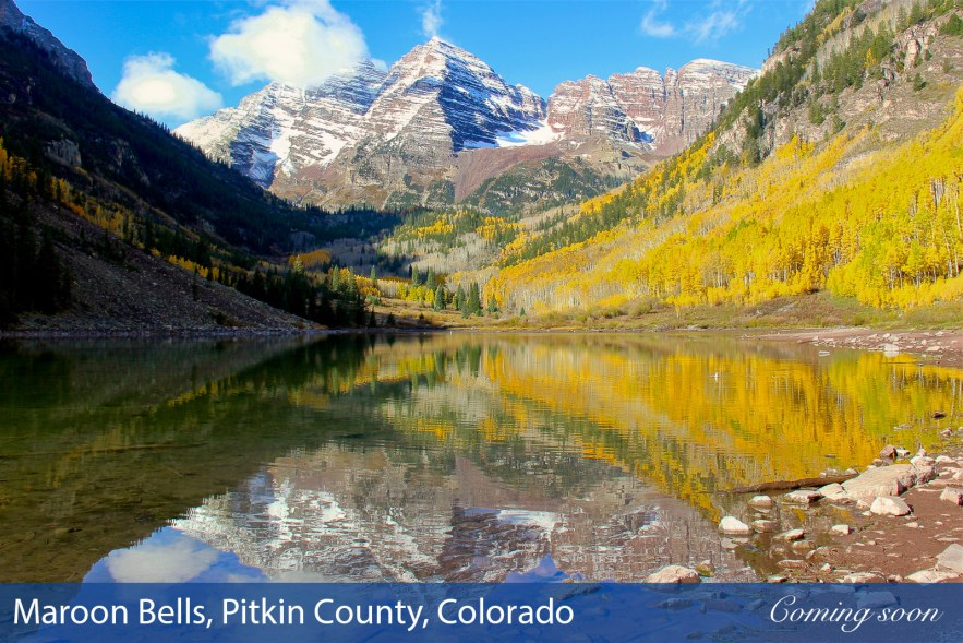 Maroon Bells, Pitkin County, Colorado photographs taken by Chasing Light Media