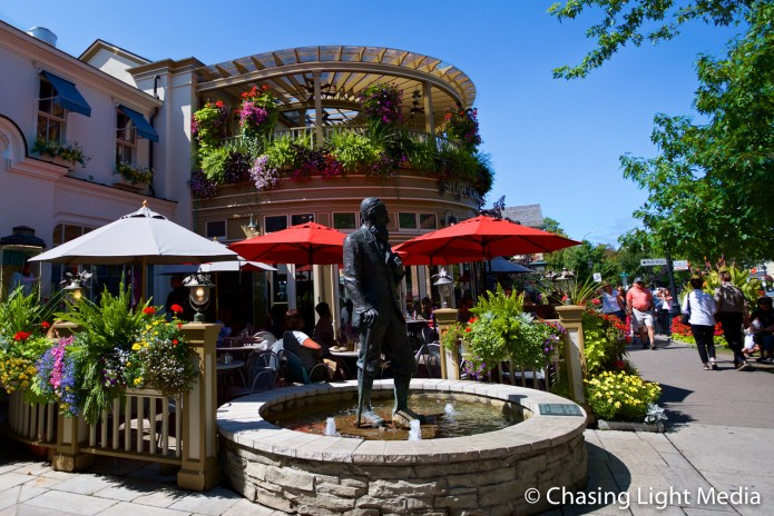 George Bernard Shaw statue in downtown Niagara-on-the-Lake