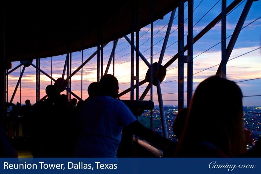Reunion Tower, Dallas, Texas photographs taken by Chasing Light Media