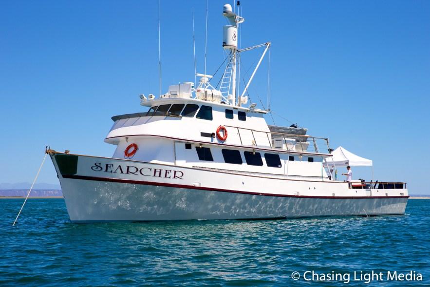 Searcher anchored, San Ignacio, Searcher Natural History Tours