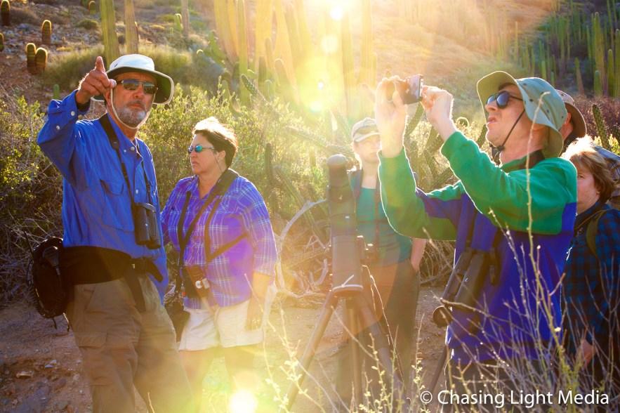 Paul Jones (Searcher naturalist) leads a group on a tour