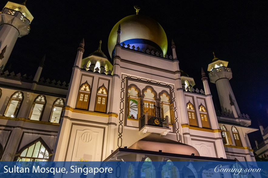 Sultan Mosque, Singapore photographs taken by Chasing Light Media