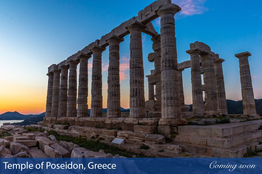 Temple of Poseidon, Greece photographs taken by Chasing Light Media