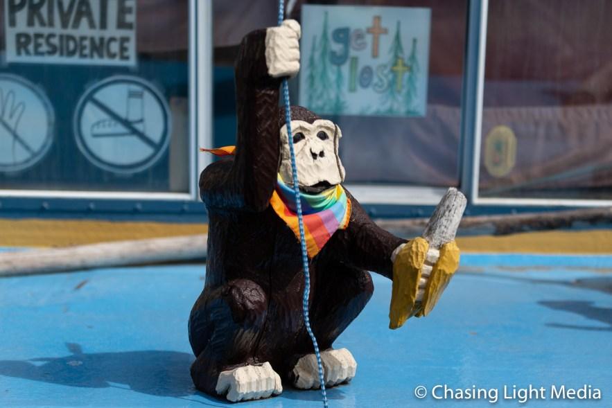 Monkey standing guard
