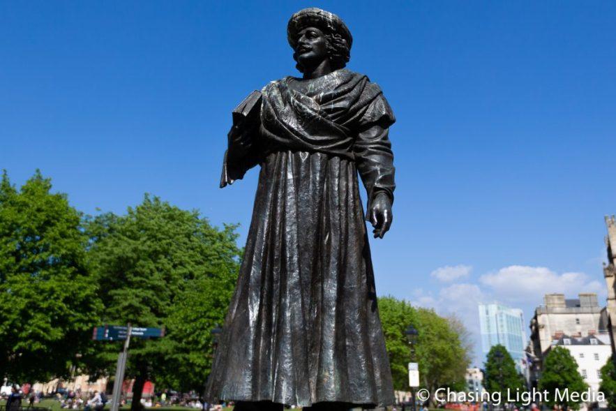 Rajah Rammohun Roy statue near Bristol Cathedral