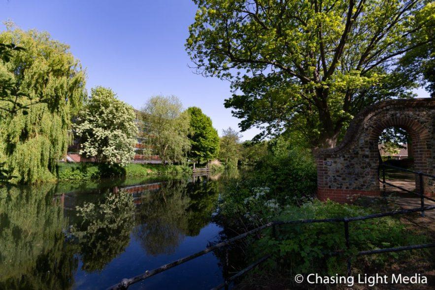 Norwich riverside walking path