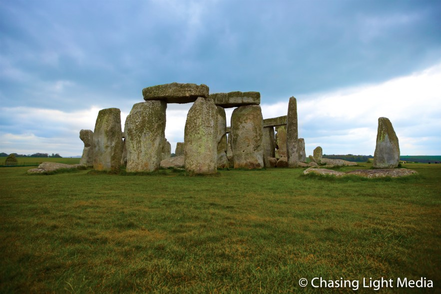 Stonehenge with approaching storm clouds
