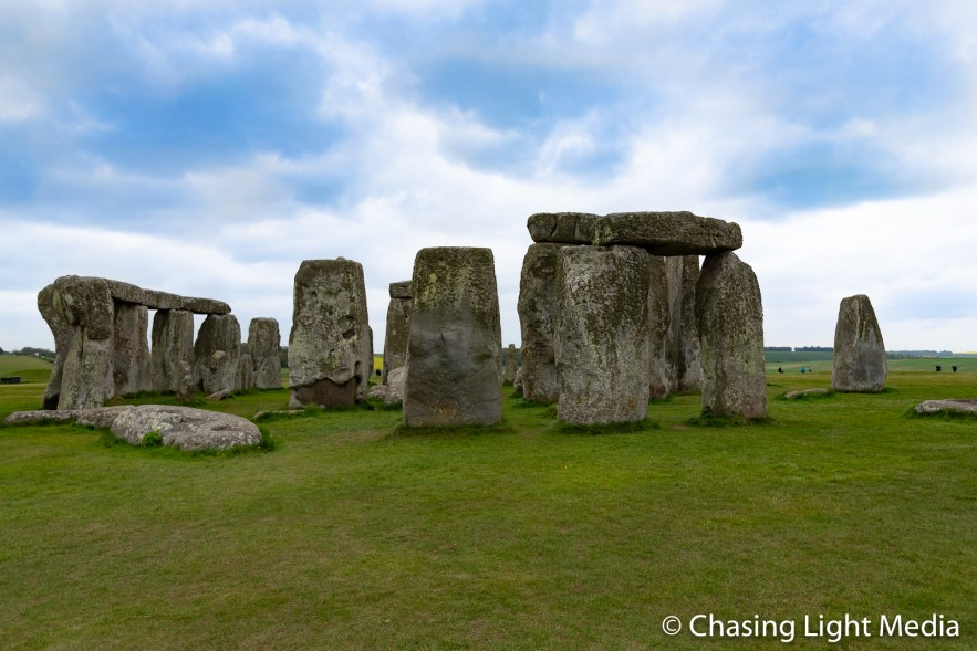Stonehenge on a cloudy spring day