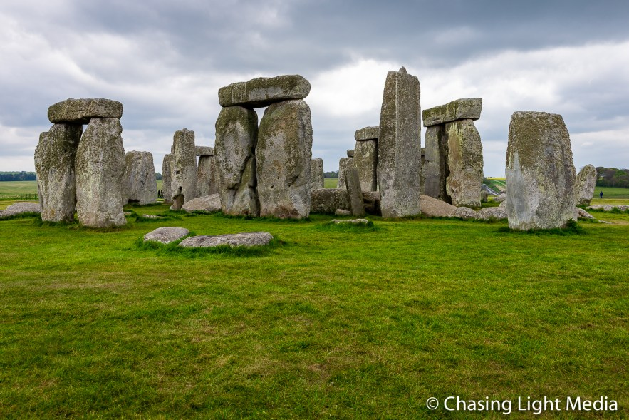 Stone Circle under cloudy skies, Wiltshire, England