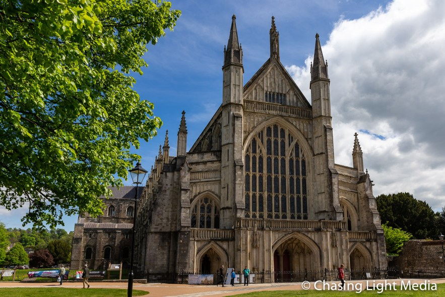 Winchester Cathedral in late spring
