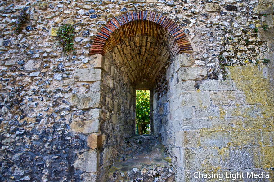 Archway at Wolvesey Castle, Winchester, England