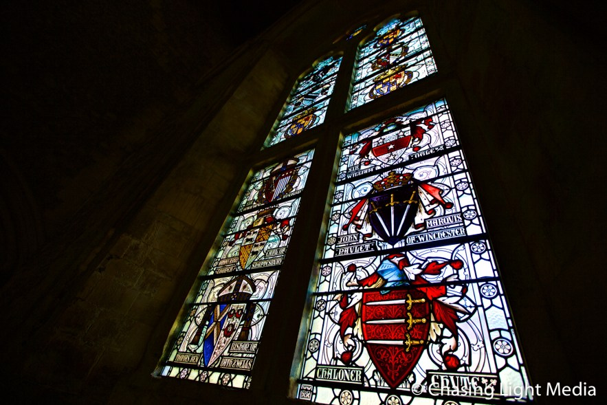 Stained Glass window at Winchester Castle Great Hall