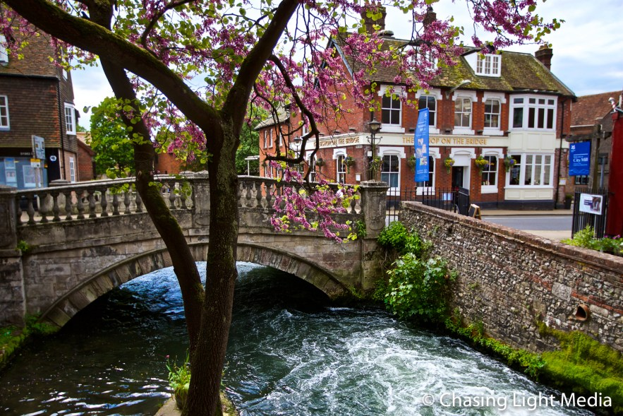 River Itchen flowing beneath the City Mill in Winchester