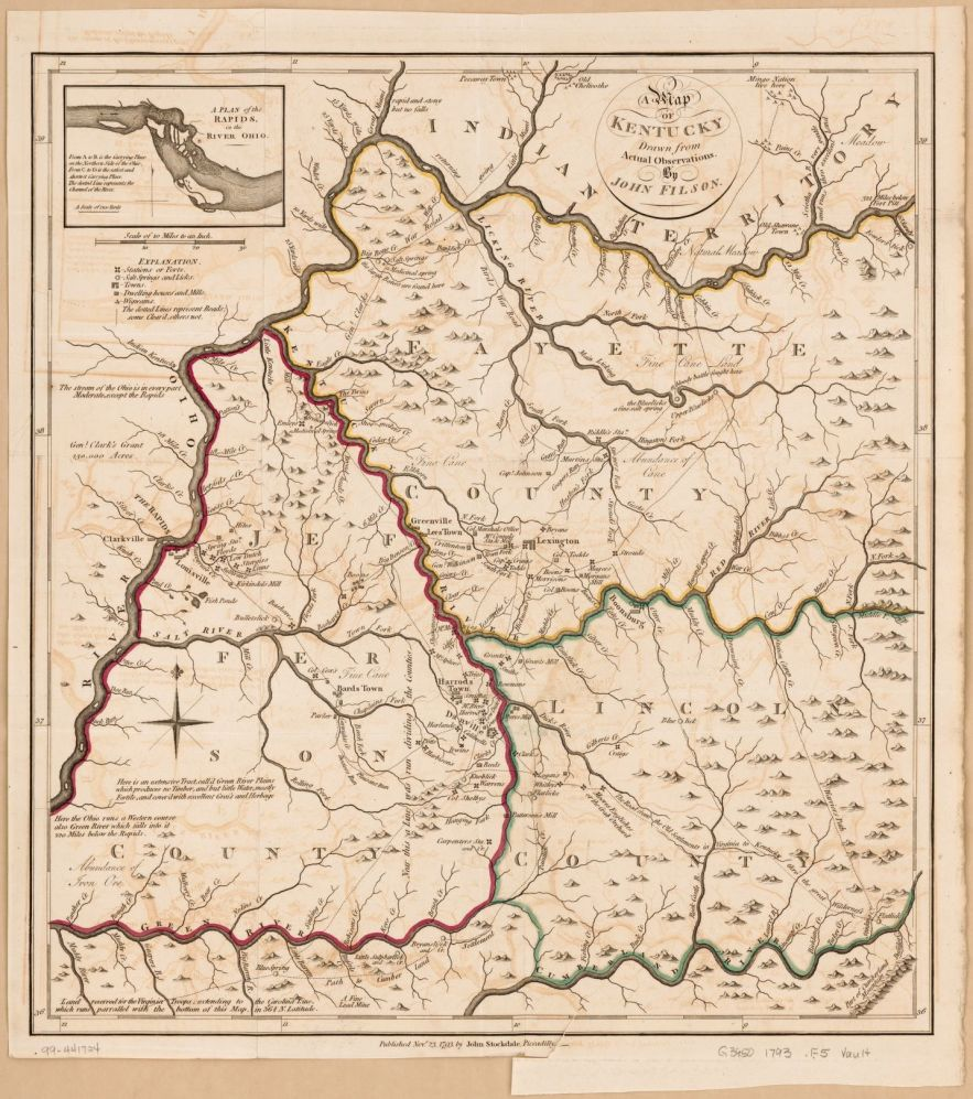 1793 Kentucky map, Library of Congress, Geography and Map Division