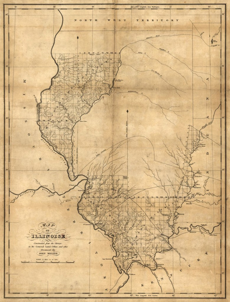 1818 Illinois map, Library of Congress, Geography and Map Division