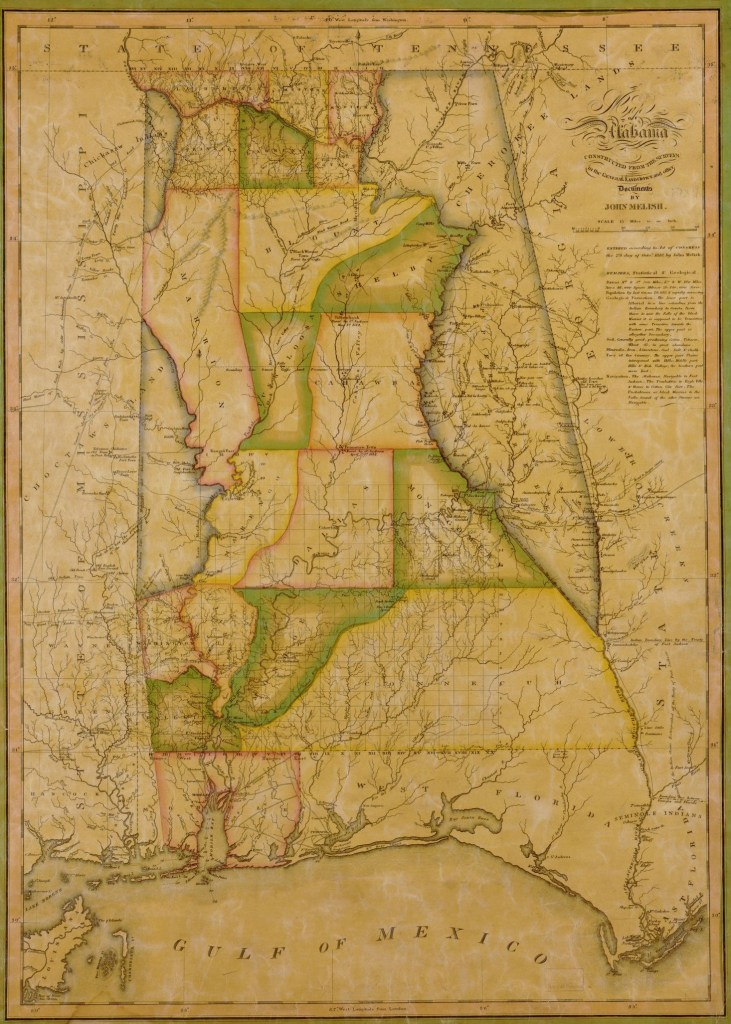 1820 Alabama map, (click to enlarge) Library of Congress, Geography and Map Division