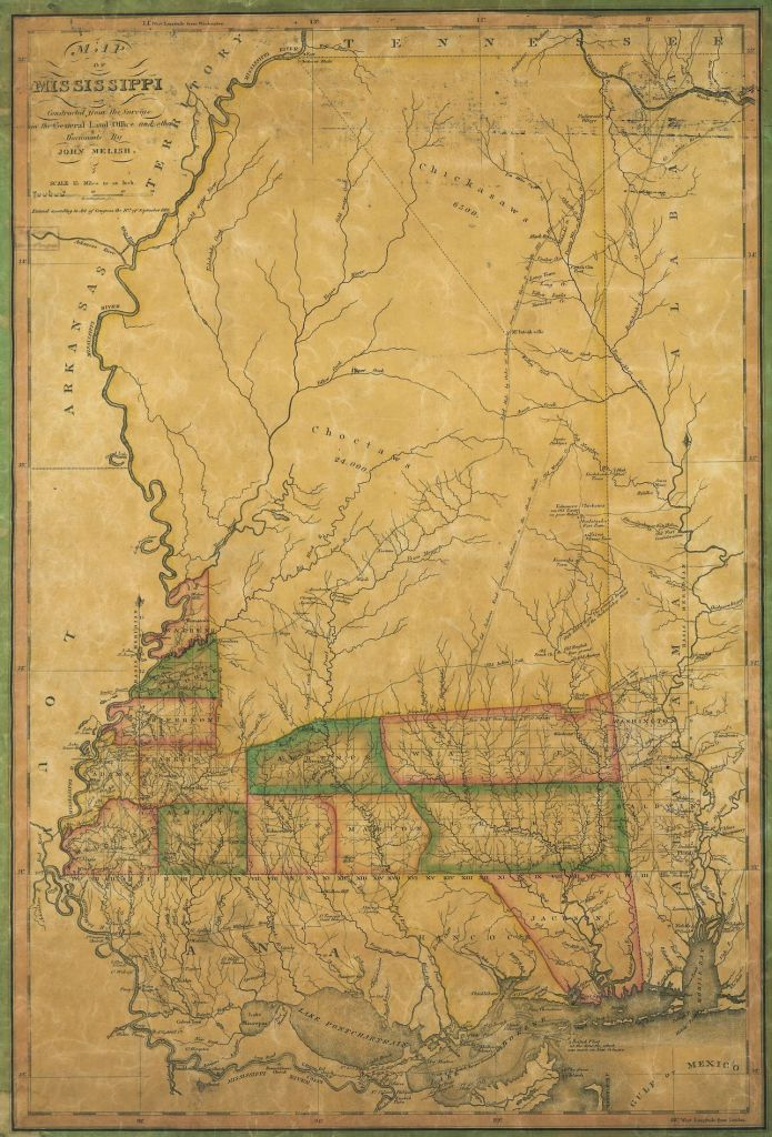 1820 Mississippi map, Library of Congress, Geography and Map Division
