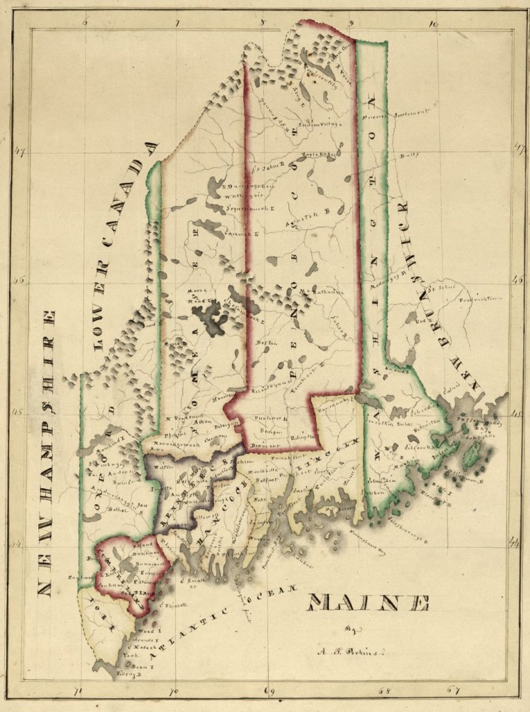 1820s Maine map, Library of Congress, Geography and Map Division