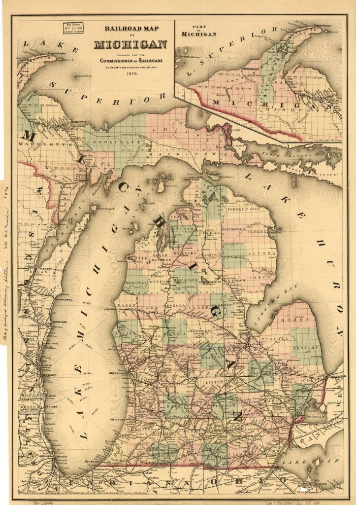 1876 Michigan map, Library of Congress, Geography and Map Division