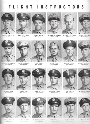 Independence Army Flying School 1943 Yearbook, Independence Army Air Field, Independence, Kansas, FLIGHT INSTRUCTORS