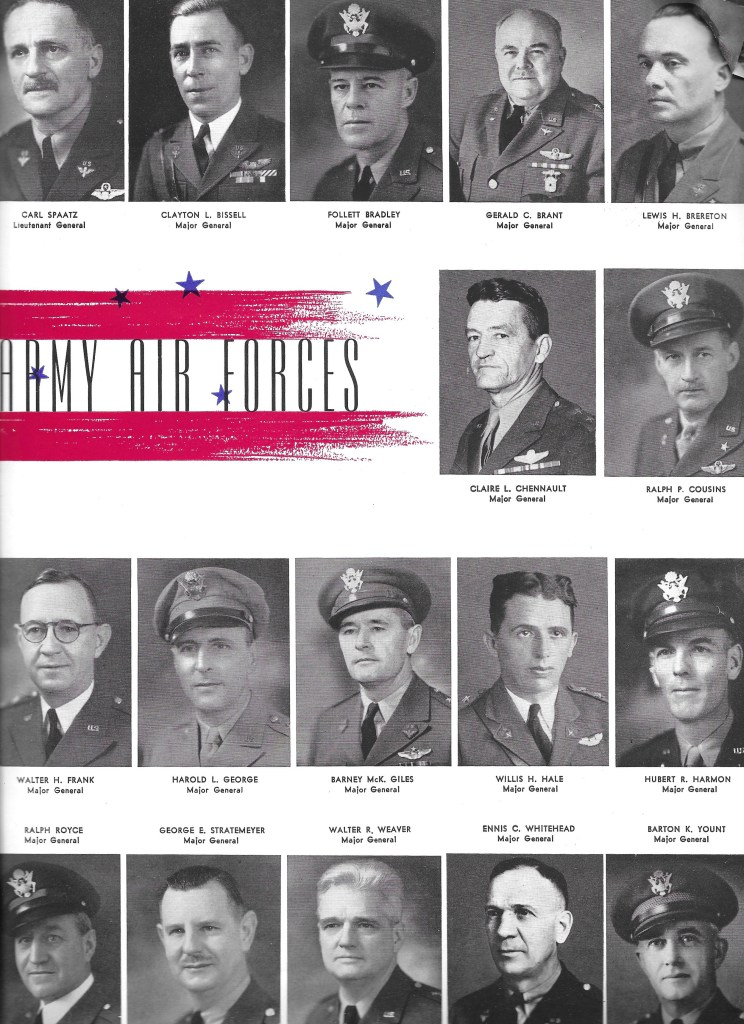 Independence Army Flying School 1943 Yearbook, Leaders–Army Air Forces
