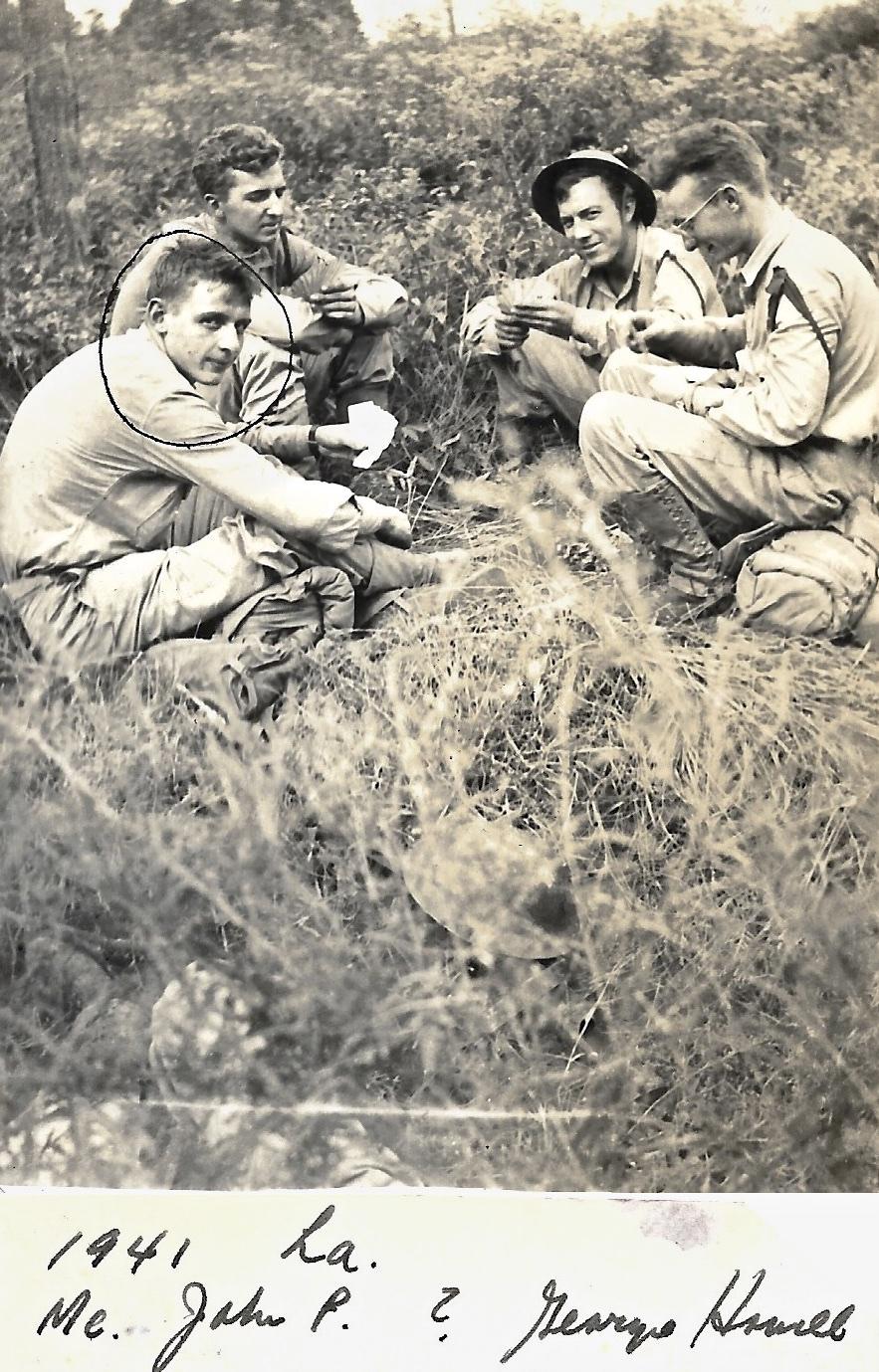 1941 WWII Ernie Faulkner, John Pope, George Howell, Louisiana Ma