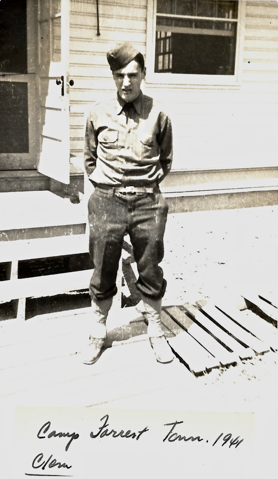 1941 WWII Camp Forrest, Tennessee - Clem