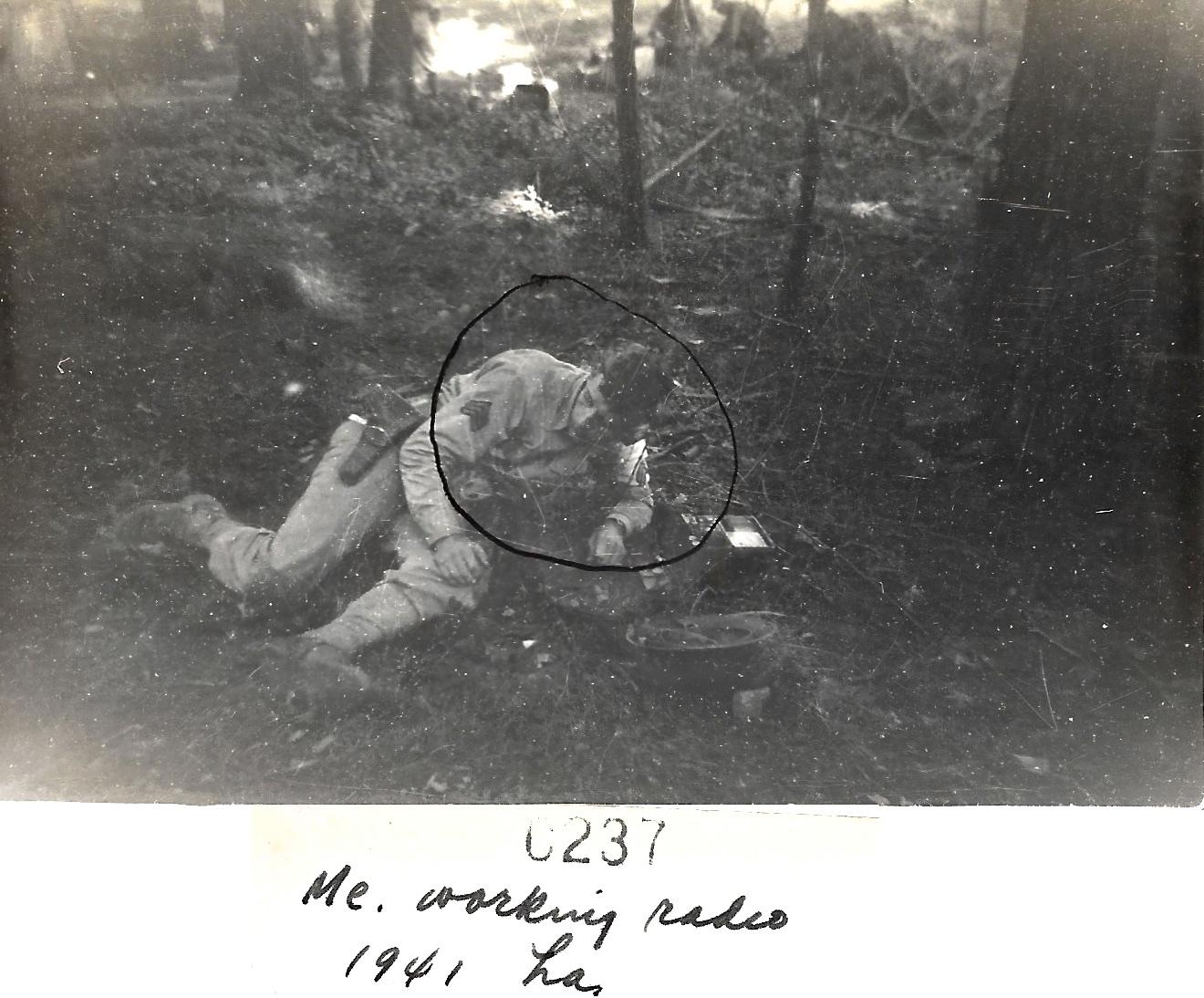 1941 WWII Ernest L Faulkner, Louisiana Maneuvers