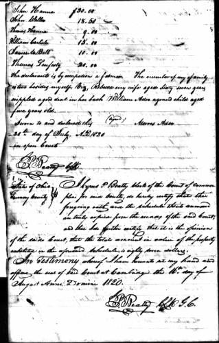 Morris Ader file, p. 8, Revolutionary War Pension and Bounty-Land Warrant Application Files
