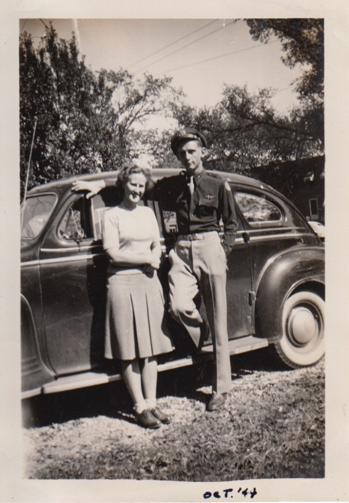 Eleanor Phillis Baird with brother-in-law, Ernest Faulkner, Oct